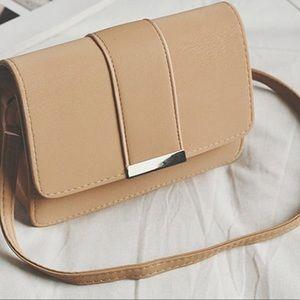 Handbags - Nude Crossbody Bag